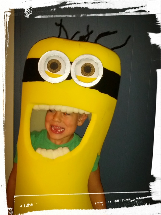 Almost finished the Minion...just need to make the overalls!