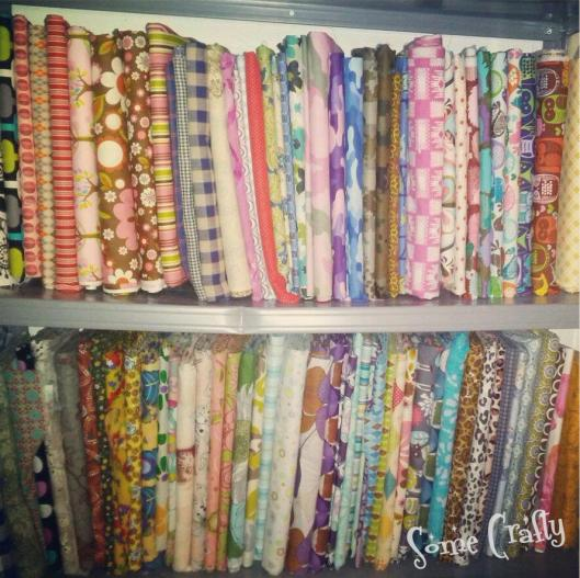 Mini-bolted fabric stash